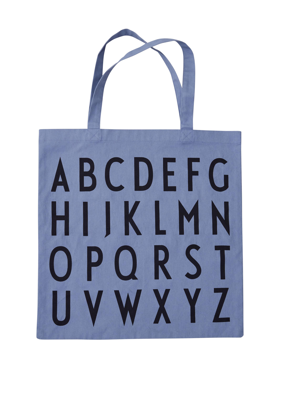 Design Letters - Farvorite Tote Bag - ABC Blue (10502001BLUEABC)