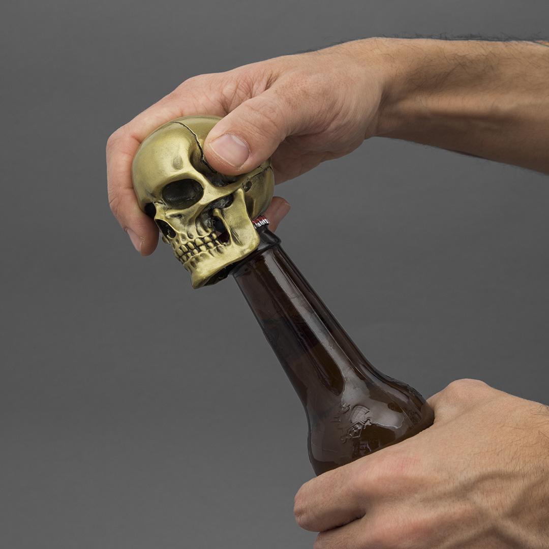 Iron & Glory - Crack one Open - Skull Bottle Opener