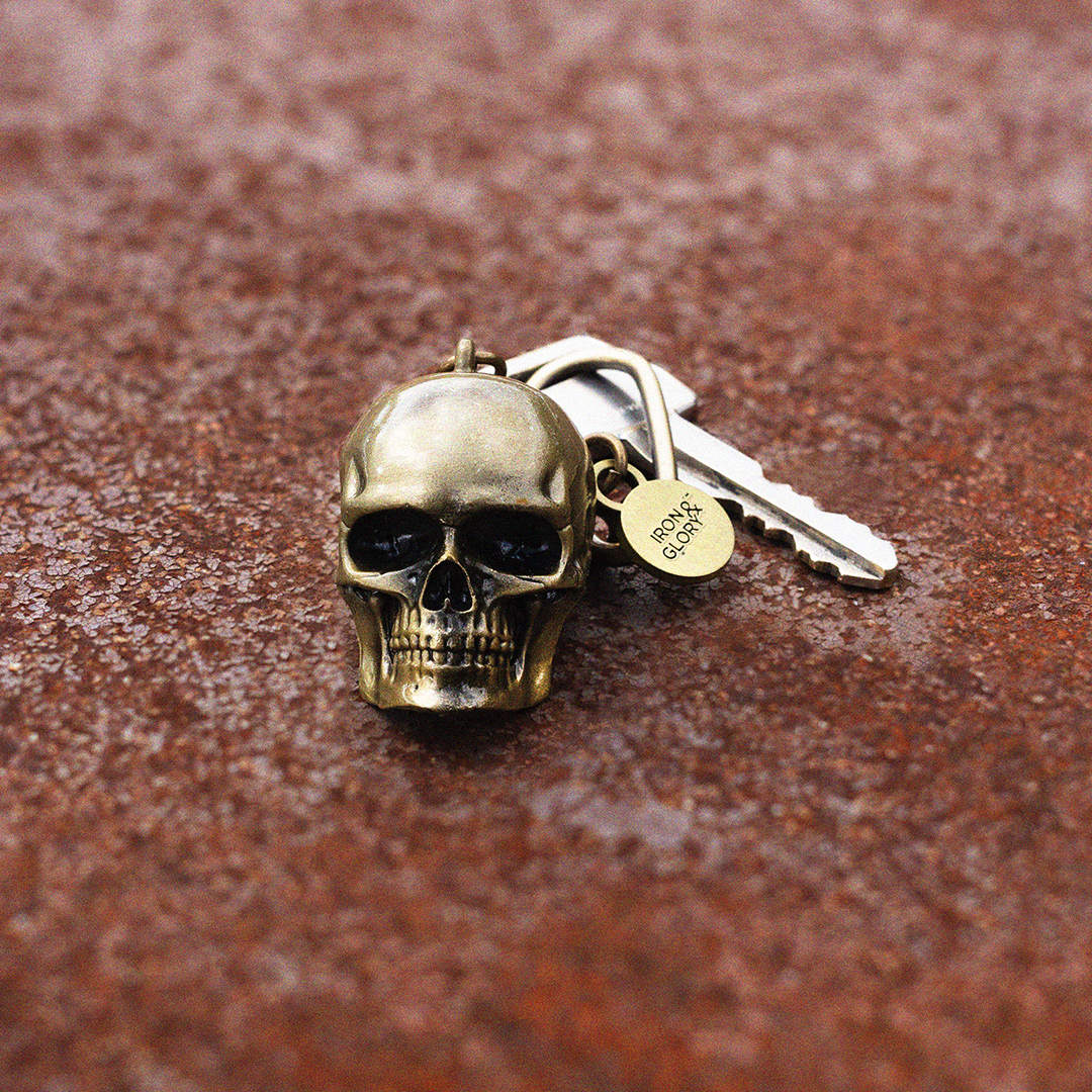 Iron & Glory - Dead Ringer - Skull Keychain