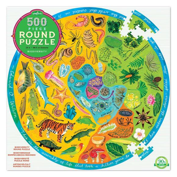 eeBoo - Round Puzzle - Biodiversity, 500 pc (EPZFBOD)