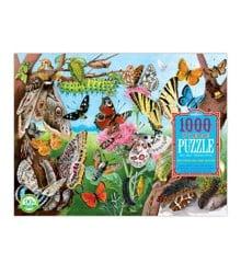 eeBoo - Puslespil - Summerfugle og larver, 1000 brikker