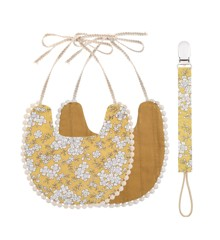 That's Mine - Double-Sided Bib With Pacifier - Ochre (DB162)