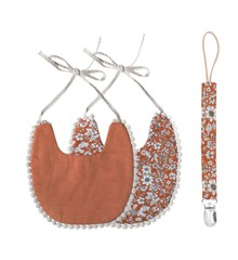 That's Mine - Double-Sided Bib With Pacifier - Terracotta (DB161)