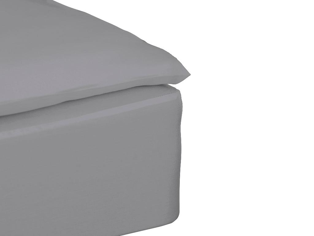Södahl - Comfort Box Sheets 140 x 200 x 30 cm - Grey (724052)