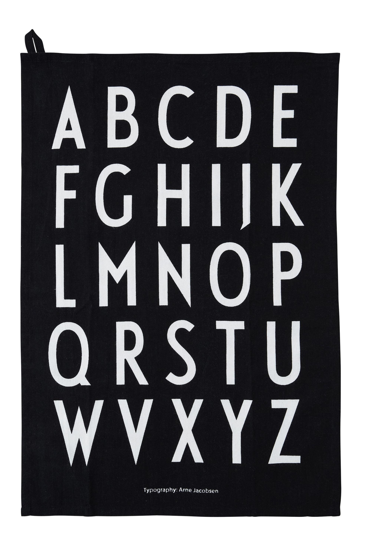 Design Letters - Classic Tea Towel - Black (10503000BLACK)