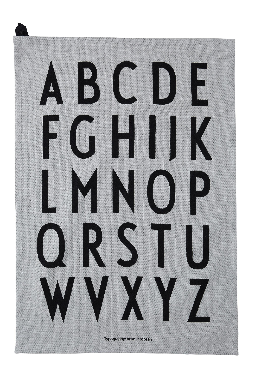 Design Letters - Classic Tea Towel - Grey (10503000GREY)