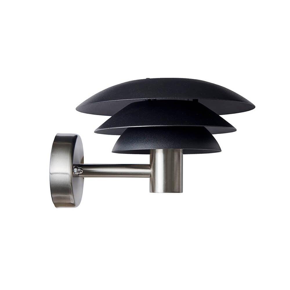 Dyberg-Larsen - DL25 Outdoor Wall Lamp - Black/steel (1027)