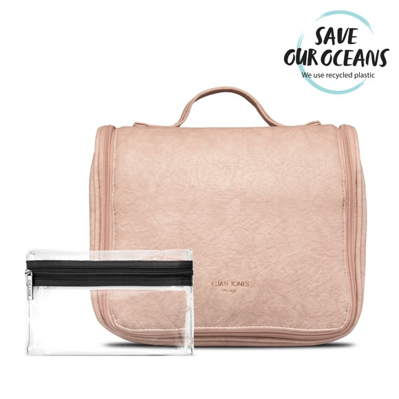Gillian Jones - Cosmetic Hangup Bag Vegan - Rose