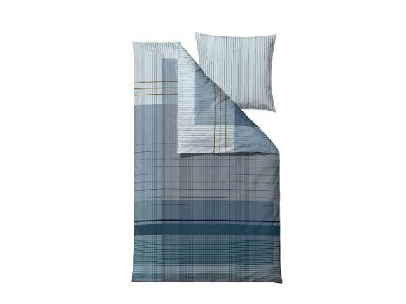 Södahl - Fine Lines Bedding 140 x 200 cm - Indigo (724814)