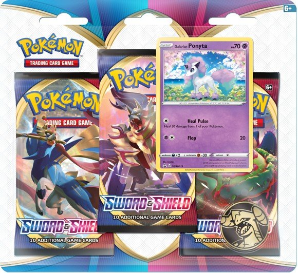 Pokemon - Blister 3 Pack Sword & Shield (Pokemon Cards) (POK80655)
