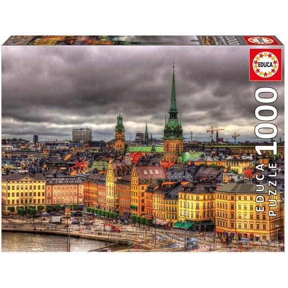 Educa - Puzzle 1000 - Views of Stockholm (017664)