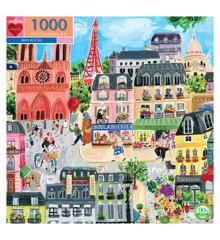 eeBoo - Puslespil 1000 brikker - Paris in a Day
