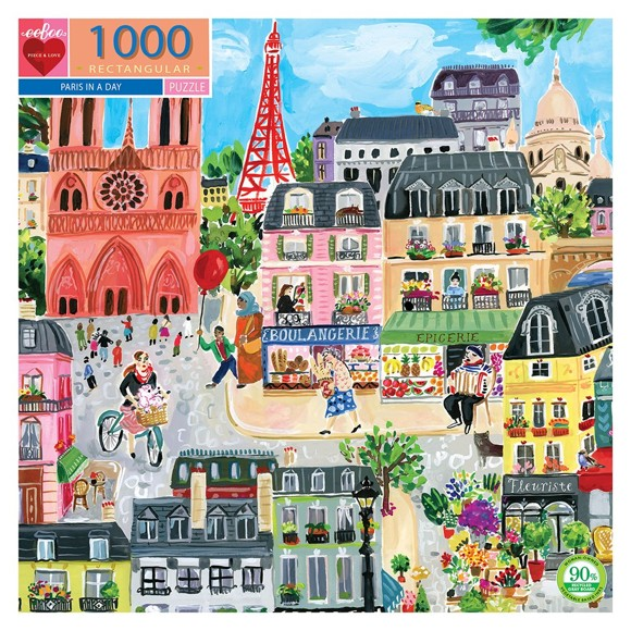 eeBoo - Puzzle - Paris in a Day (EPZTPD2)
