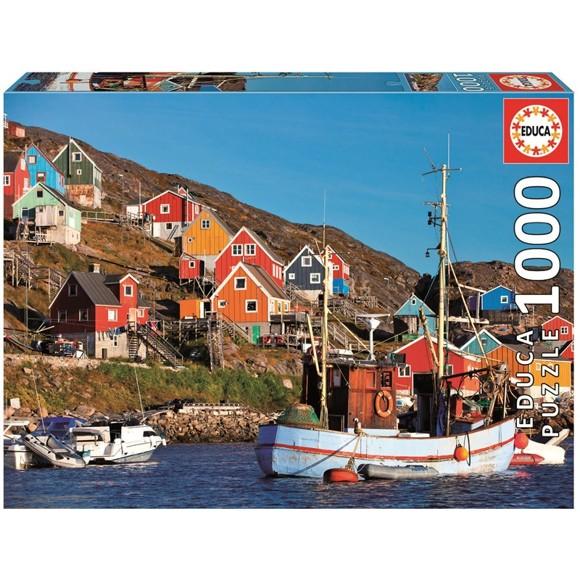 Educa - Puzzle 1000 - Nordic Houses (017745)