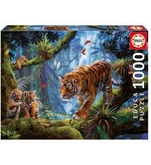 Educa - Puslespil 1000 brikker - Tigre i junglen