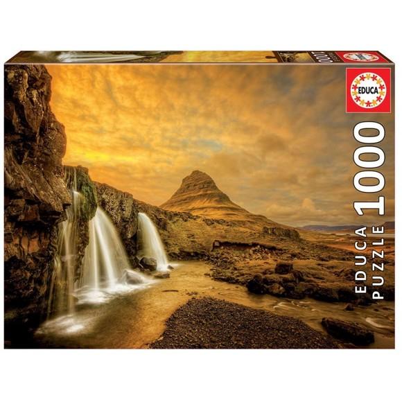 Educa - Puzzle 1000 - Kirkjufellsfoss Waterfall, Iceland (017971)