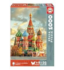 Educa - Puslespil 1000 brikker - St. Basil's Cathedral, Moskva (017998)