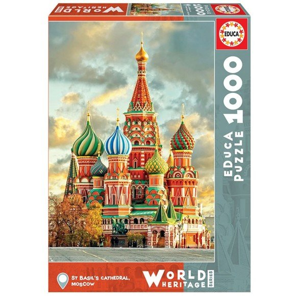Educa - Puzzle 1000 - St. Basil's Cathedral, Moscow (017998)