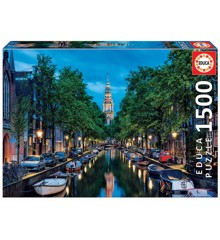 Educa - Puzzle 1500 - Amsterdam Canal at dusk (  016767)