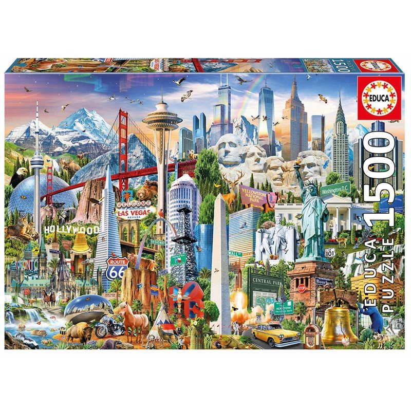 Educa - Puzzle 1500 - Symbols from North America ( 017670)