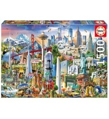 Educa - Puzzle 1500 - Symbols from North America ( 017670)