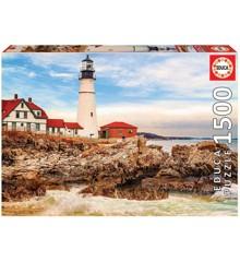 Educa - Puzzle 1500 - Rocky Lighthouse ( 017978)