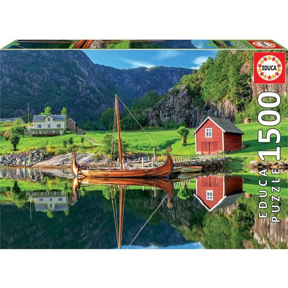 Educa - Puslespil 1500 brikker -  Vikingeskib