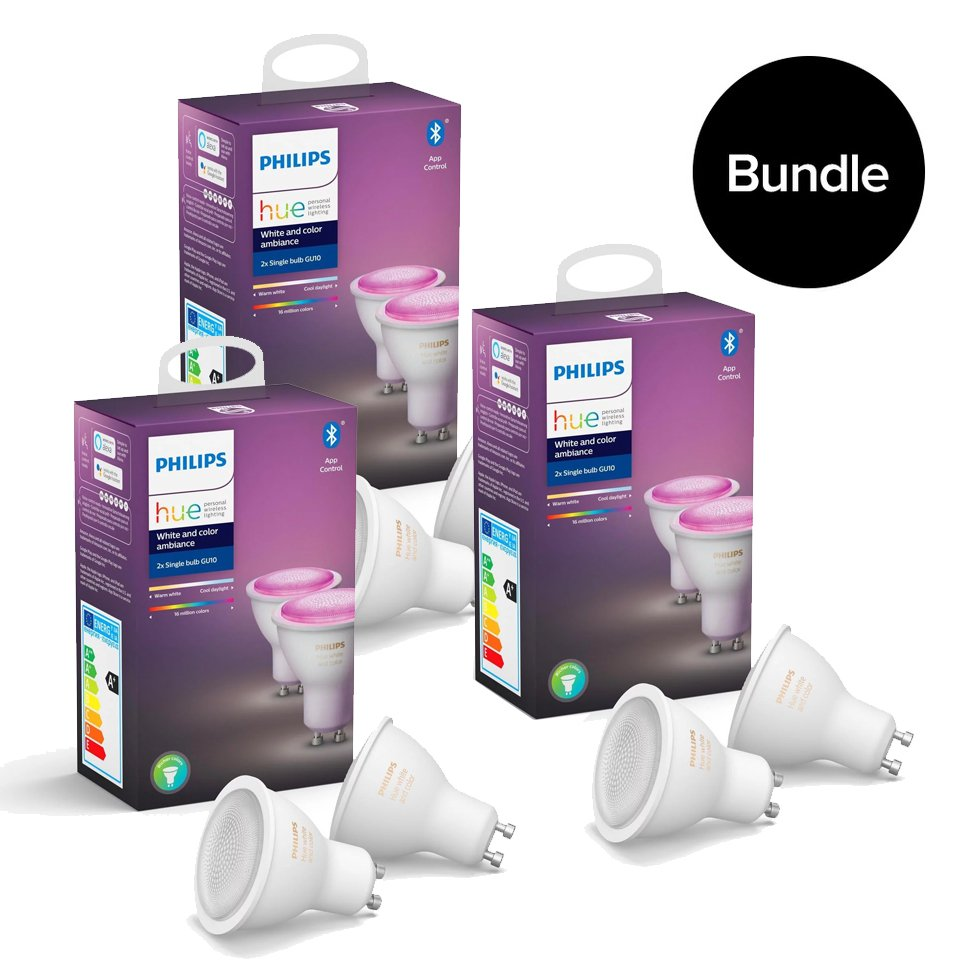 Philips Hue - 3xDoppelpack GU10 - Color Ambiance - Bundle