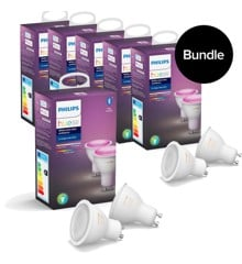 Philips Hue - 6xGU10 2-Pack 12 pcs in total - Color Ambiance - Bluetooth - Bundle