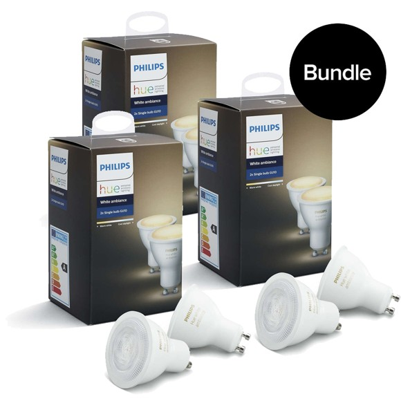 Philips Hue - 3xGU10 2-Pack - White Ambiance - Bluetooth - Bundle