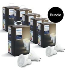 Philips Hue - 6xGU10 Dual Pack (12 pcs in total)   -  White Ambiance - Bundle