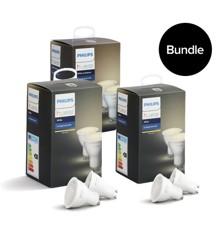 Philips Hue - 3xGU10 Dual Pack - Warm White - Bluetooth - Bundle