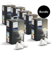 Philips Hue - 6xGU10 Dual Pack - Warm White - Bluetooth - Bundle