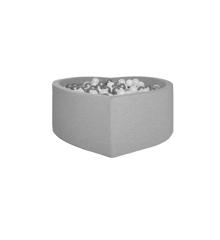 Kidkii - Hjerte Boldbassin 100 x 40 cm - Bomuld - Grå