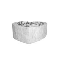 Kidkii - Hjerte Boldbassin 100 x 40 cm - Fløjl - Marmor