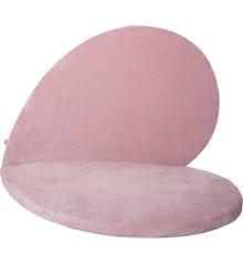 Kidkii - Hjerte Legetæppe - Velvet - Baby Pink