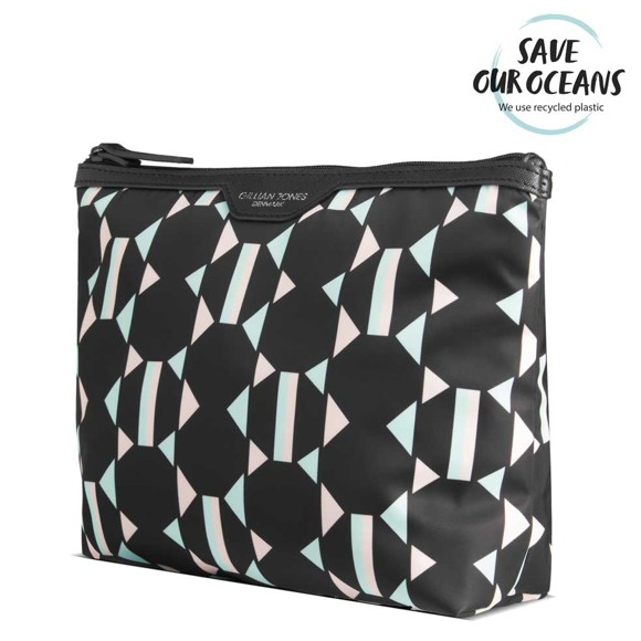 Gillian Jones - Toiletry Bag - Geometrically Print