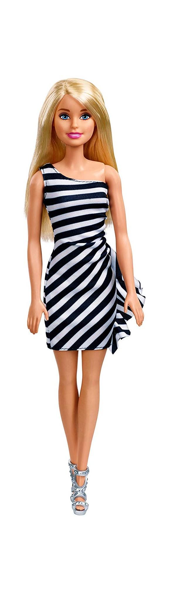 Barbie - Wearing Stripes - Hvid/Sort (FXL68)