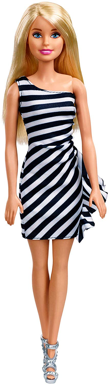 Barbie - Wearing Stripes - White/Black (FXL68)