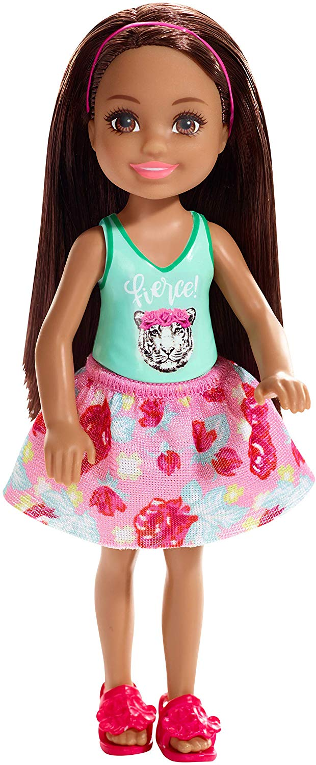 Barbie - Chelsea and Friends Doll - Fierce Tiger Graphic Shirt (FXG79)