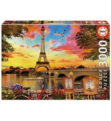 Educa - Puzzle 3000 -  Sunset in Paris (017675)