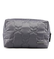 Gillian Jones - Makeup Purse  - Grey Butterfly Quilt