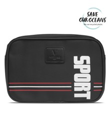 Vittorio - Mens Washbag - Black w. Red SPORT Logo