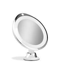Gillian Jones - Chrome Suction Mirror x 10 w. LED Light