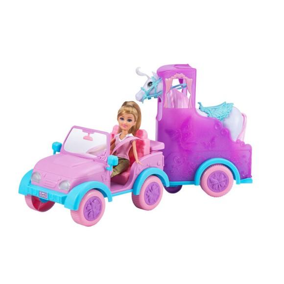Sparkle Girlz - Dukke med Jeep og hestetrailer (100319)