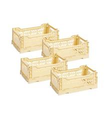HAY - Colour Crate Kasse Sæt á 4 - Lys Gul