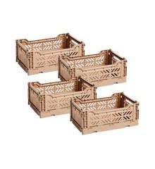 HAY - Colour Crate Kasse Sæt á 4 - Nougat