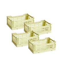 HAY - Colour Crate Kasse Sæt á 4 - Lime