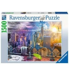 Ravensburger - Puzzle 1500 - Day & Night NYC Skyline (10216008)