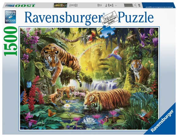 Ravensburger - Puzzle 1500 - Tranquil Tigers (10216005)